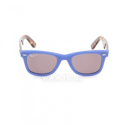 Очки Ray-Ban Original Wayfarer Pop RB2140-1241-W0 Blue / Havana | Purple Polarized, вид спереди