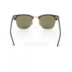 Очки Ray-Ban Clubmaster Flash Lenses RB3016-1145-17 Matte Havana | Green Mirror Blue 24