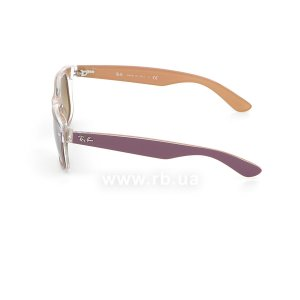 Очки Ray-Ban New Wayfarer Color Mix RB2132-6192-85 Violet On Crystal/Beige| Brown Faded Yellow, вид слева