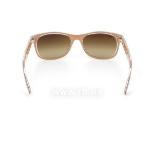 Очки Ray-Ban New Wayfarer Color Mix RB2132-6192-85 Violet On Crystal/Beige| Brown Faded Yellow, вид сзади