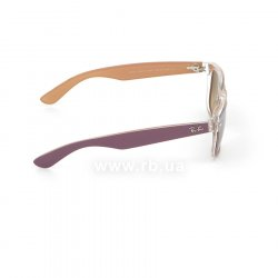Очки Ray-Ban New Wayfarer Color Mix RB2132-6192-85 Violet On Crystal/Beige| Brown Faded Yellow, вид справа
