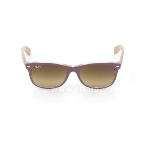 Очки Ray-Ban New Wayfarer Color Mix RB2132-6192-85 Violet On Crystal/Beige| Brown Faded Yellow, вид спереди