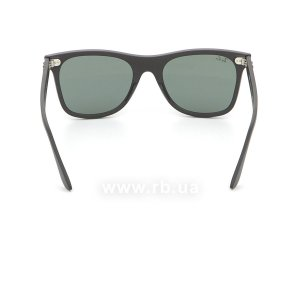 Очки Ray-Ban Blaze Wayfarer RB4440N-601S-71 Matt Black | Green / Grey, вид сзади