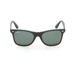 Очки Ray-Ban Blaze Wayfarer RB4440N-601S-71 Matt Black | Green / Grey, вид спереди