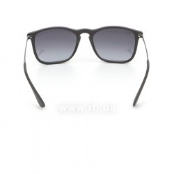Очки Ray-Ban Chris RB4187-622-8G Black Rubber | Poly. Gradient Grey, вид сзади