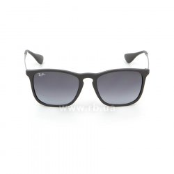 Очки Ray-Ban Chris RB4187-622-8G Black Rubber | Poly. Gradient Grey, вид спереди