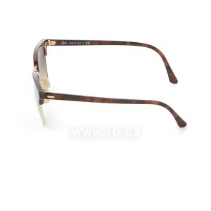 Очки Ray-Ban Clubmaster Flash Lenses RB3016-990-7O Arista/Red tortoise | Mirror Faded Brown, вид слева