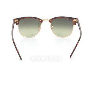 Очки Ray-Ban Clubmaster Flash Lenses RB3016-990-7O Arista/Red tortoise | Mirror Faded Brown, вид сзади