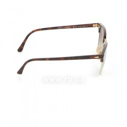 Очки Ray-Ban Clubmaster Flash Lenses RB3016-990-7O Arista/Red tortoise | Mirror Faded Brown, вид справа