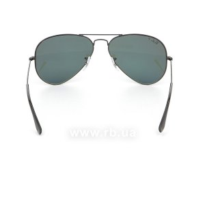 Очки Ray-Ban Aviator Large Metal RB3025-002-58 Black/Natural Green Polarized, вид сзади