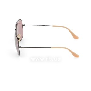 Очки Ray-Ban Aviator Large Metal Evolve RB3025-9066-Z0 Black | Purple Photocromic, вид слева