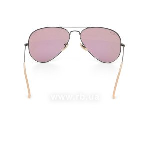Очки Ray-Ban Aviator Large Metal Evolve RB3025-9066-Z0 Black | Purple Photocromic, вид сзади