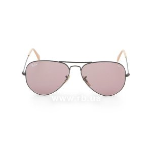 Очки Ray-Ban Aviator Large Metal Evolve RB3025-9066-Z0 Black | Purple Photocromic, вид спереди