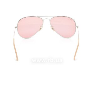 Очки Ray-Ban Aviator Large Metal Evolve RB3025-9065-V7 Silver | Pink Photocromic, вид сзади
