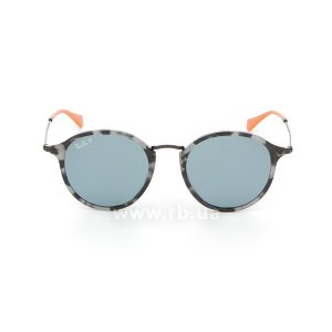 Очки Ray-Ban Round Fleck Pop RB2447-1246-52 Grey / Havana Milk | Grey Polarized, вид спереди