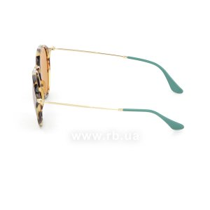Очки Ray-Ban Round Fleck Pop RB2447-1244-N9 Havana / Arista|  Yellow Polarized, вид слева