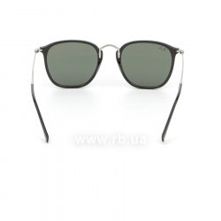 Очки Ray-Ban Highstreet Flat Lenses RB2448N-901 Black/Matt Silver| Natural Green, вид сзади