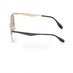 Очки Ray-Ban Clubmaster Metal RB3538-187-2Y Black / APX Light Pink Mirror, вид слева