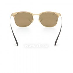 Очки Ray-Ban Clubmaster Metal RB3538-187-2Y Black / APX Light Pink Mirror, вид сзади