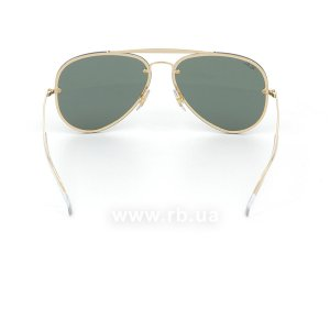 Очки Ray-Ban Blaze Aviator RB3584N-9050-71 Arista | Grey/Green, вид сзади