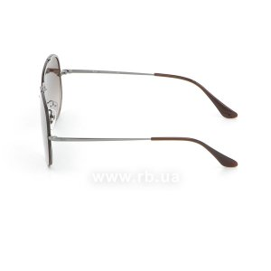 Очки Ray-Ban Blaze Aviator RB3584N-004-13 Gunmetal  | Gradient Brown, вид слева