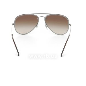 Очки Ray-Ban Blaze Aviator RB3584N-004-13 Gunmetal  | Gradient Brown, вид сзади