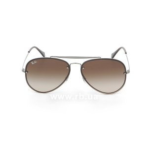 Очки Ray-Ban Blaze Aviator RB3584N-004-13 Gunmetal  | Gradient Brown, вид спереди