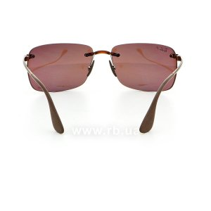 Очки Ray-Ban Chromance RB4255-604-6B Havana | Brown Gradient Polarized, вид сзади