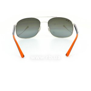 Очки Ray-Ban Active Lifestyle RB3593-9101-88 Silver / Blue / Orange | Gradient Grey Mirror, вид сзади