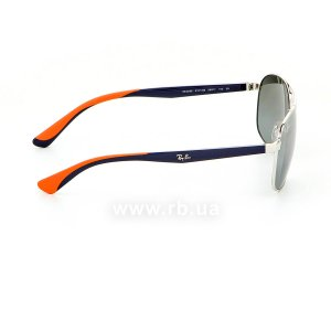 Очки Ray-Ban Active Lifestyle RB3593-9101-88 Silver / Blue / Orange | Gradient Grey Mirror, вид справа