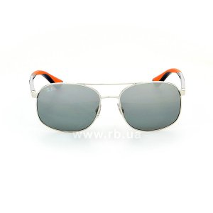 Очки Ray-Ban Active Lifestyle RB3593-9101-88 Silver / Blue / Orange | Gradient Grey Mirror, вид спереди