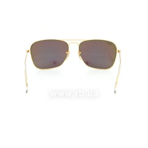 Очки Ray-Ban Caravan Flash Lenses RB3136-112-19 Matt Arista / Green Mirror Flash Lenses, вид сзади
