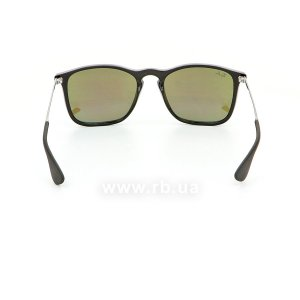 Очки Ray-Ban Chris RB4187-601-55 Black | Blue  Mirror, вид сзади