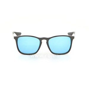 Очки Ray-Ban Chris RB4187-601-55 Black | Blue  Mirror, вид спереди