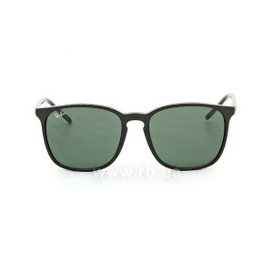 Очки Ray-Ban Youngster RB4387-601-71 Black  | Grey/Green, вид спереди