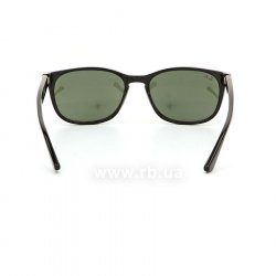 Очки Ray-Ban Highstreet RB2184-901-31 Black | Natural Green, вид сзади