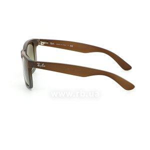 Очки Ray-Ban Justin RB4165-854-7Z Brown Rubber Faded/Transparent Grey Rubber/Grey, вид слева