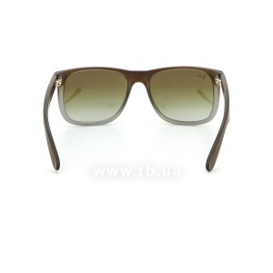 Очки Ray-Ban Justin RB4165-854-7Z Brown Rubber Faded/Transparent Grey Rubber/Grey, вид сзади
