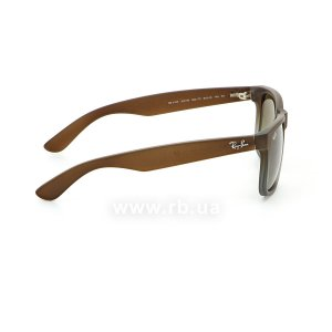 Очки Ray-Ban Justin RB4165-854-7Z Brown Rubber Faded/Transparent Grey Rubber/Grey, вид справа