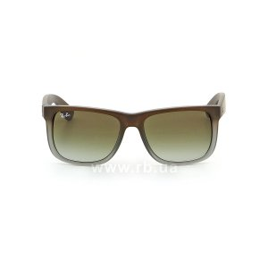 Очки Ray-Ban Justin RB4165-854-7Z Brown Rubber Faded/Transparent Grey Rubber/Grey, вид спереди