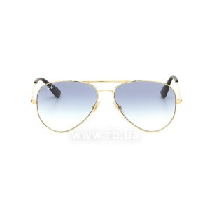 Очки Ray-Ban Youngster Aviator RB3558-001-19 Arista | Blue Gradient, вид спереди
