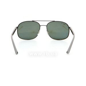 Очки Ray-Ban Active Lifestyle RB3593-002-9A Black | Green Polarized, вид сзади