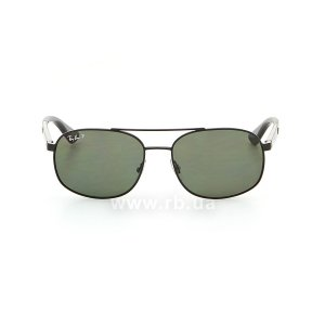 Очки Ray-Ban Active Lifestyle RB3593-002-9A Black | Green Polarized, вид спереди