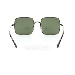 Очки Ray-Ban Square RB1971-9148-31 Black | Natural Green, вид сзади