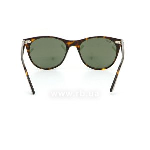 Очки Ray-Ban Wayfarer II Classic RB2185-902-31 Havana | Natural Green, вид сзади