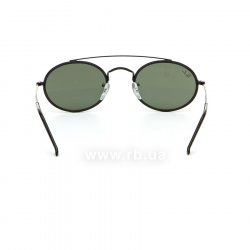 Очки Ray-Ban Oval Double Bridge RB3847N-9120-31 Black | Dark Green, вид сзади