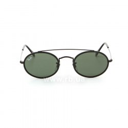 Очки Ray-Ban Oval Double Bridge RB3847N-9120-31 Black | Dark Green, вид спереди