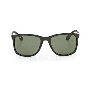 Очки Ray-Ban Active Lifestyle RB4313-601-9A Black | Green Polarized, вид спереди