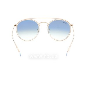 Очки Ray-Ban Round Double Bridge RB3647N-9068-3F Arista | Gradient Light Blue, вид сзади