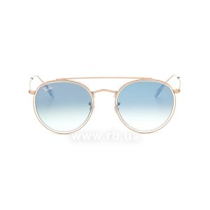 Очки Ray-Ban Round Double Bridge RB3647N-9068-3F Arista | Gradient Light Blue, вид спереди